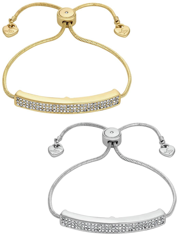 cebc64d25b2 Lipsy Gold Plated Crystal Friendship Bracelets - Set of 2 (8056616 ...