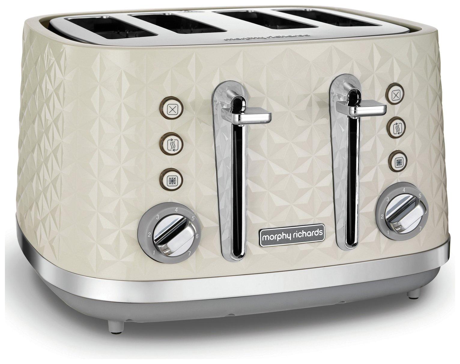 Morphy Richards 248132 Vector 4 Slice Toaster - Cream