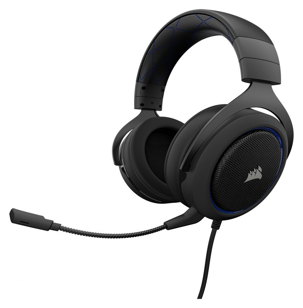 Image of Corsair HS50 Gaming Headset Xbox One/PS4/PC - Black/Blue