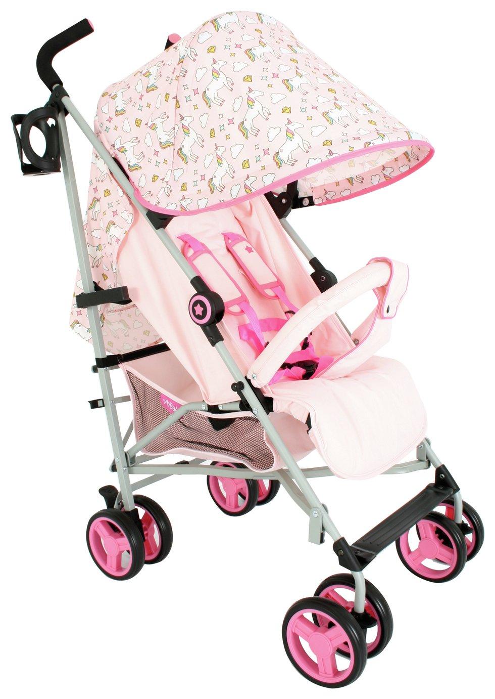 My Babiie MB02 Unicorn Stroller - Pink