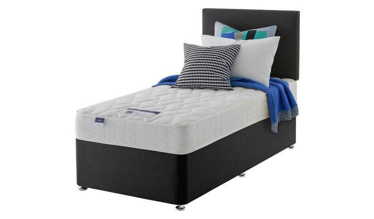 Silentnight Travis Single Divan and Headboard - Charcoal
