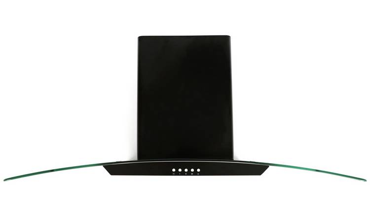 Bush BGH90BE 90cm Chimney Cooker Hood - Black