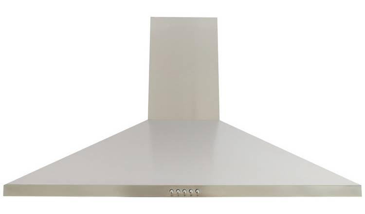 Bush BCH90SS 90cm Chimney Cooker Hood - Stainless Steel
