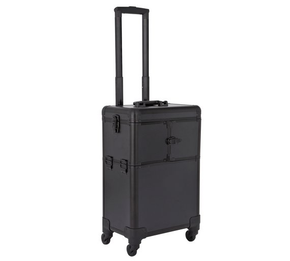 Buy Trolley Cosmetic Vanity Case Black Make Up Bags And Cases