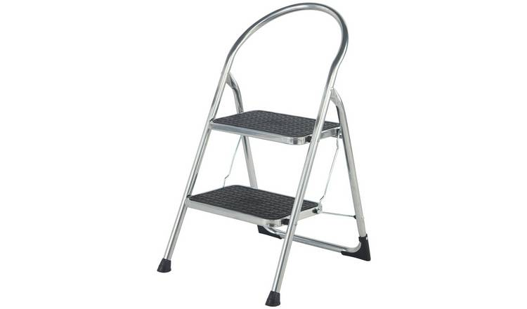 Pleasing Buy Abru 2 Step Chrome Effect Stepstool 2 22M Swh Ladders And Step Stools Argos Bralicious Painted Fabric Chair Ideas Braliciousco