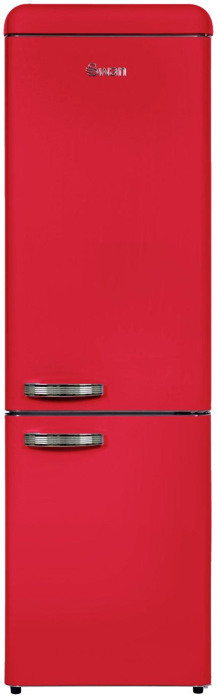 Image of Swan SR11025RN Fridge Freezer - Red
