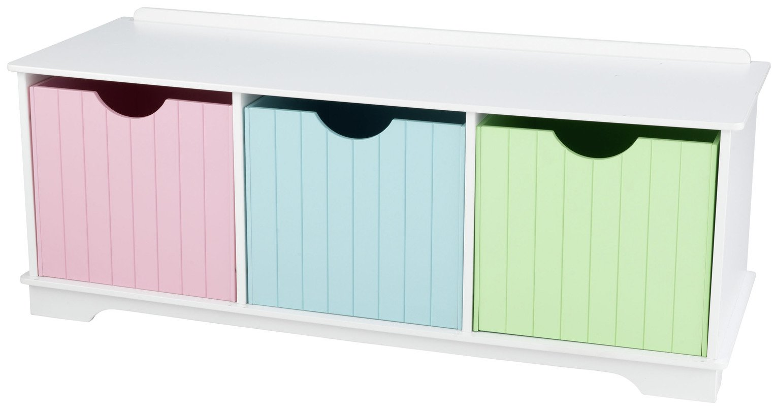 KidKraft Nantucket Pastel Storage Bench