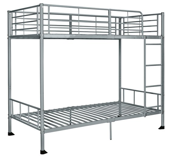 Buy Argos Home Maddison Single Bunk Bed Frame Silver Kids Beds