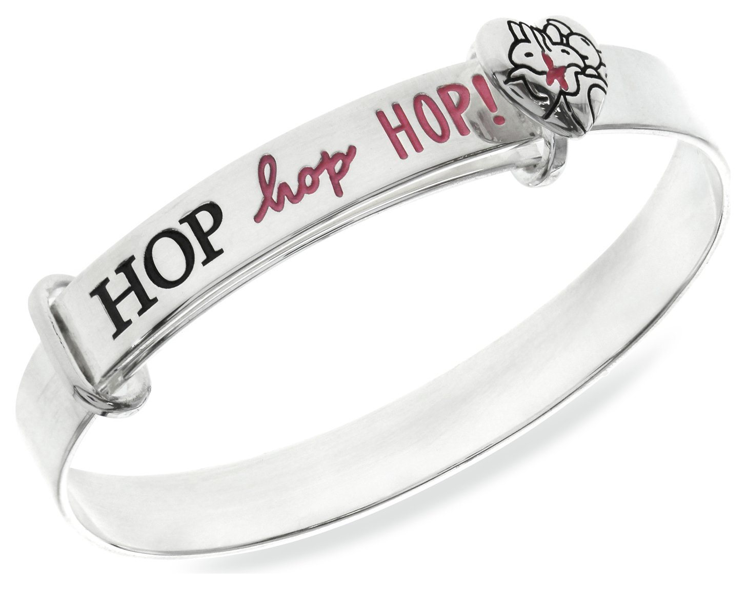 Image of Beatrix Potter Sterling Silver Three Bunnies Expander Bangle