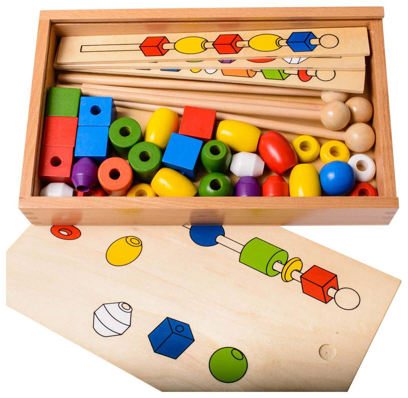 Image of EDUK8 Wooden Toy Sequencing Beads