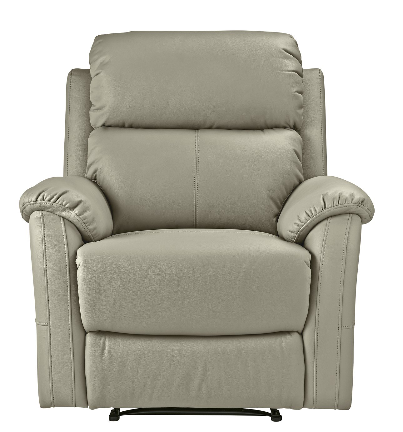 Argos Home Tyler Faux Leather Recliner Chair - Grey