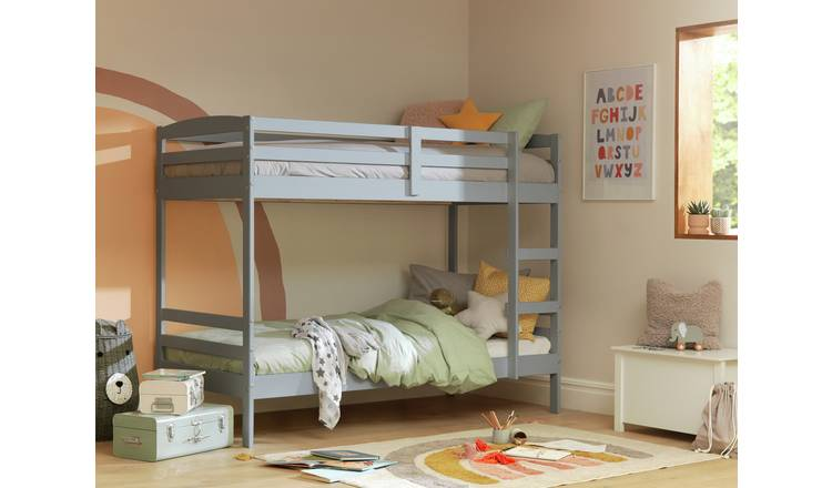 Argos Home Josie Single Bunk Bed Frame - Grey