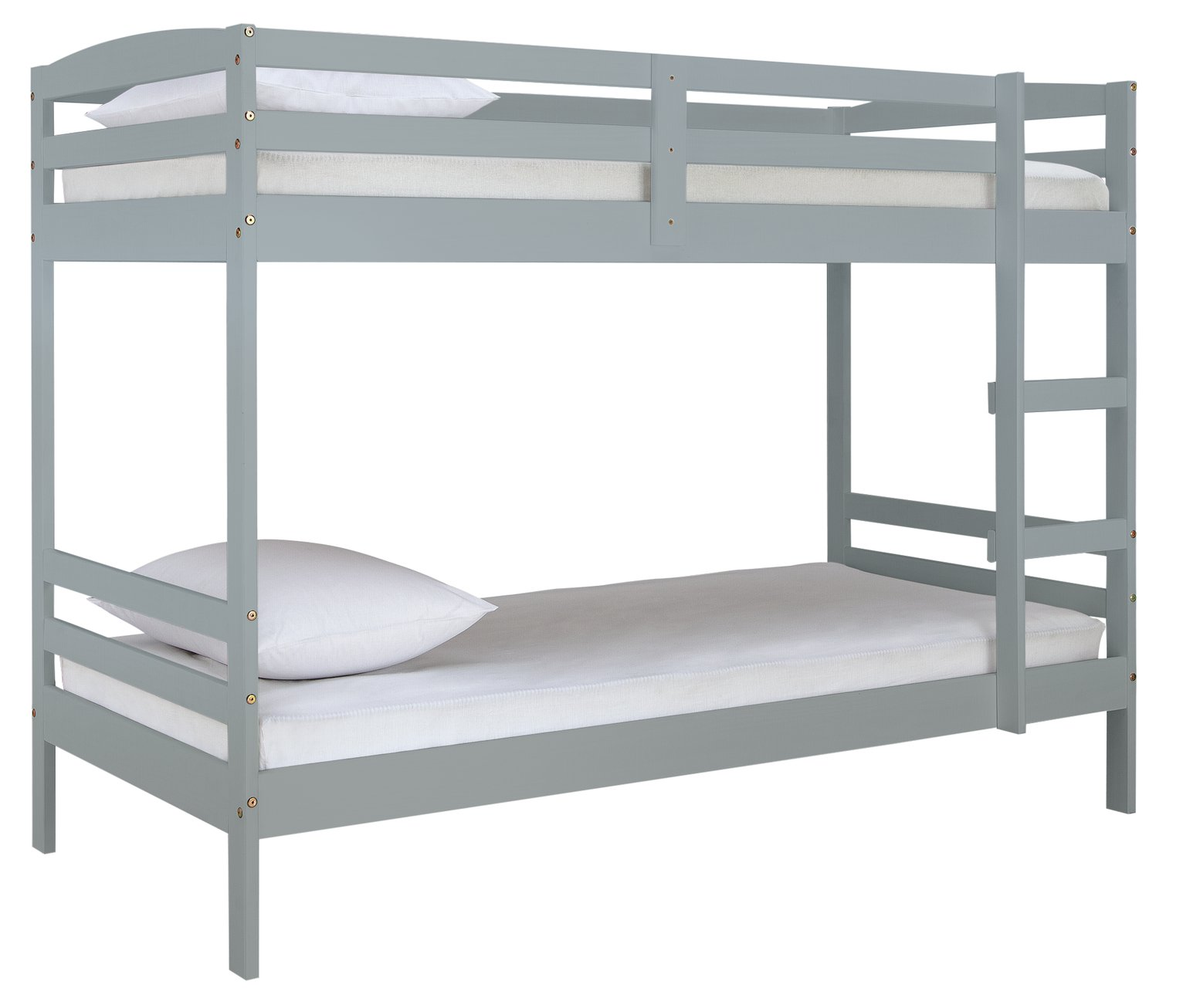 Argos Home Josie Grey Bunk Bed & 2 Kids Mattresses