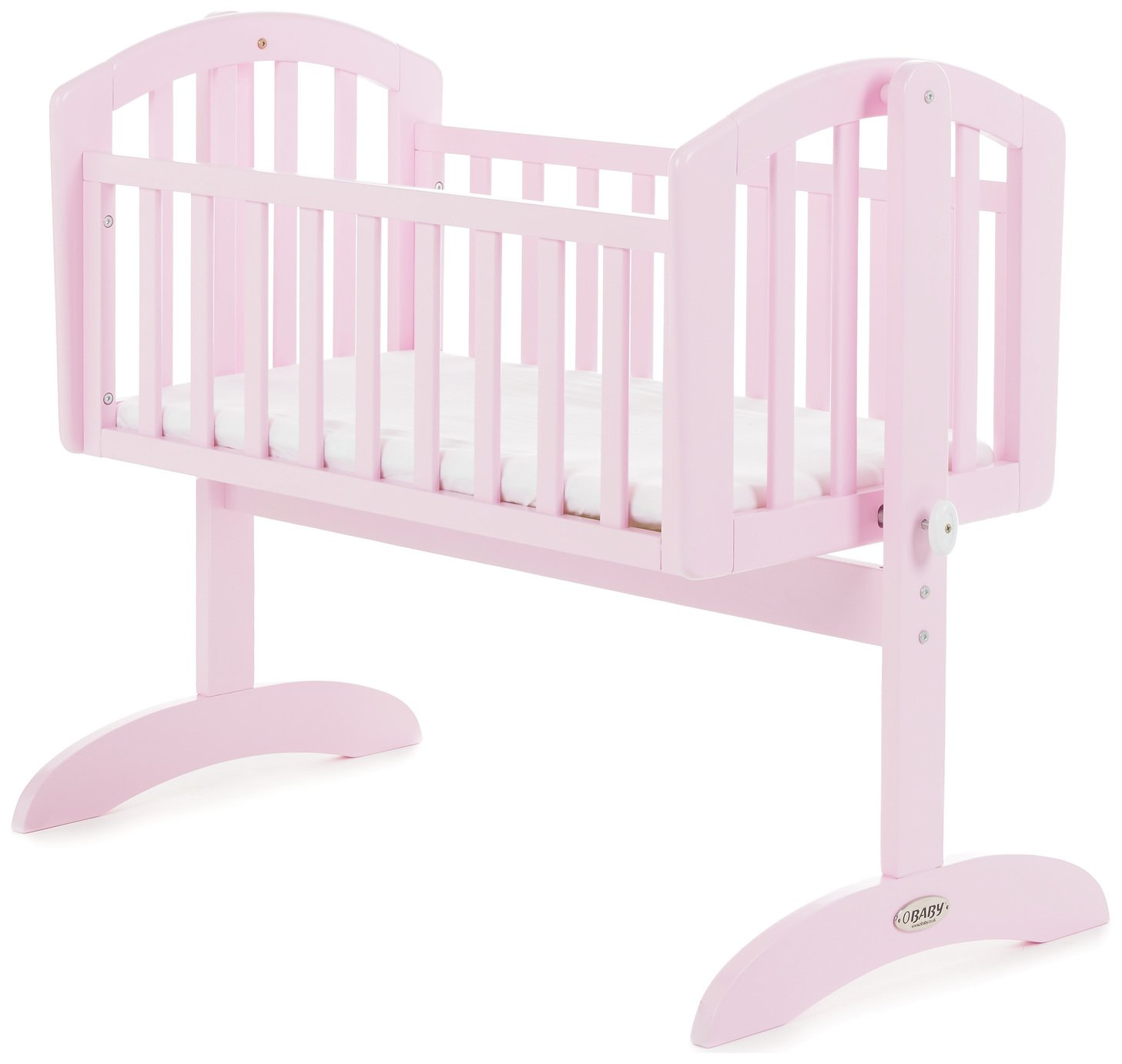 Obaby Sophie Swinging Crib & Mattress - Eton Mess