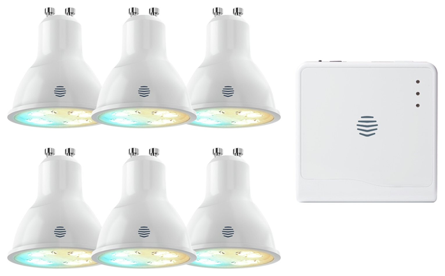 Image of Hive Active K7002505 Light Tuneable GU10 Hub and 6 Bulbs