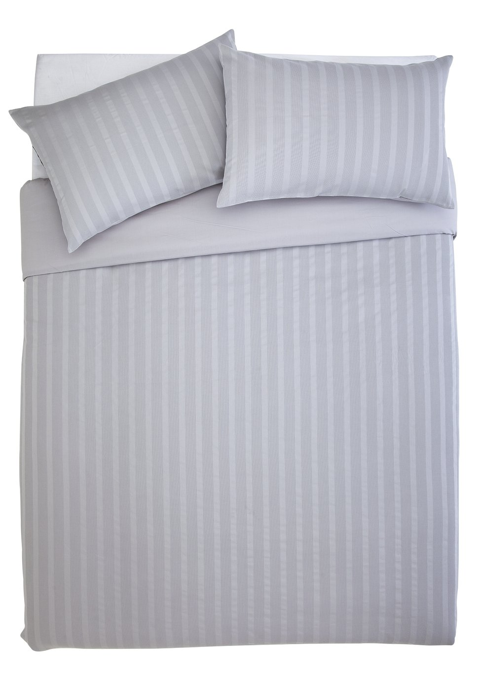 Sainsbury's Home 300TC Grey Waffle Bedding Set - Kingsize