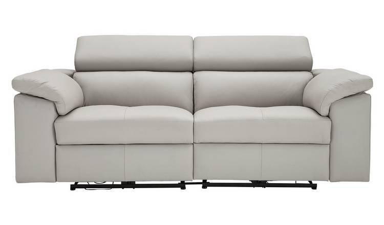 Buy Argos Home Valencia 3 Seater Power Recliner Sofa -Light Grey | Sofas |  Argos