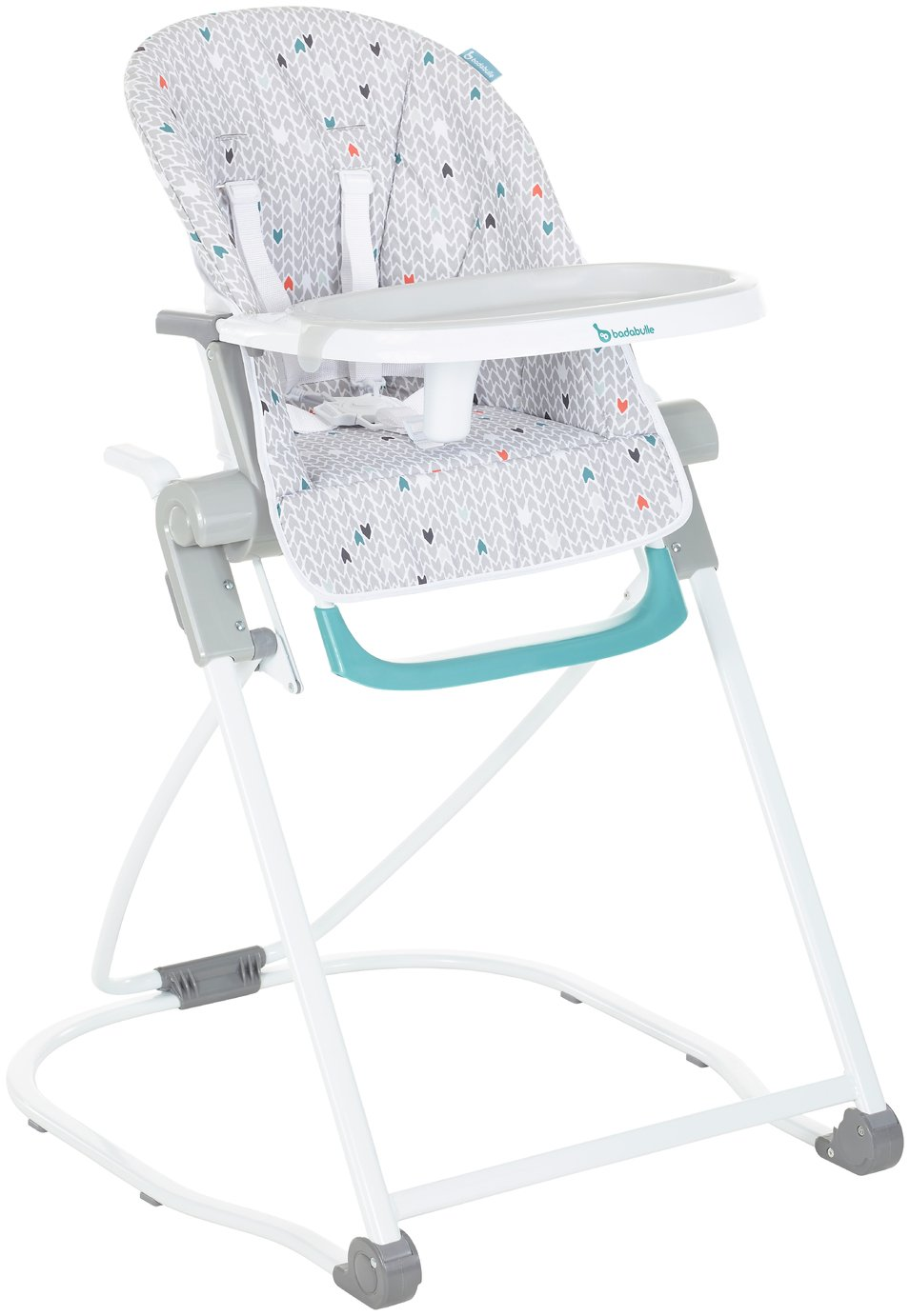Image of Badabulle High Chair Compact - Grey Patterns