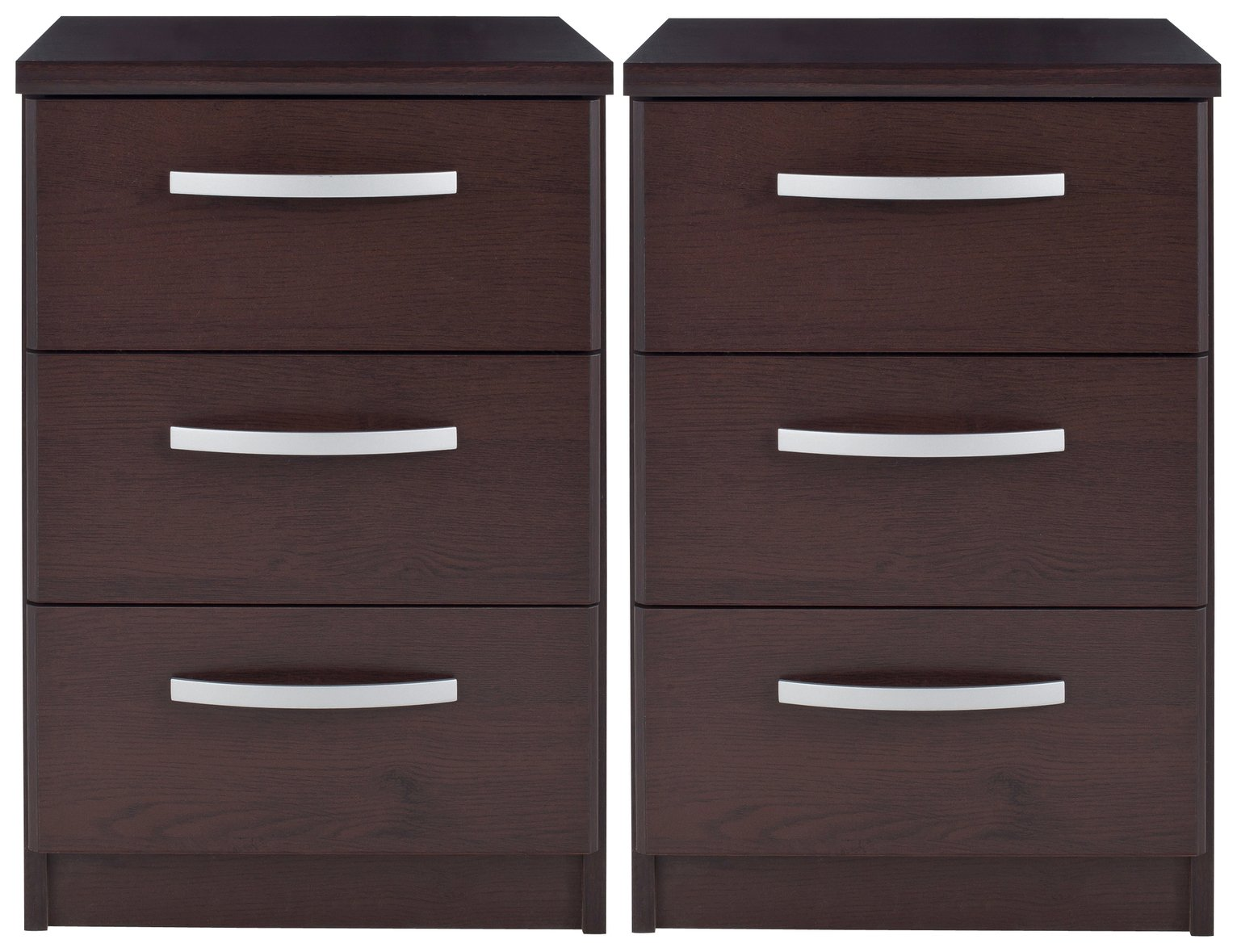 Collection Hallingford 2 Bedside Chests - Wenge Effect