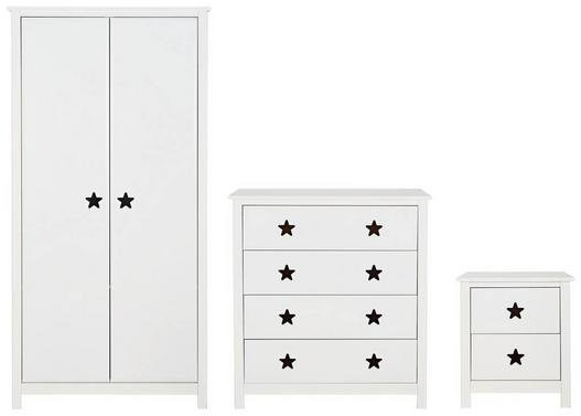 Argos Home Stars White 3 Piece Bedroom Package