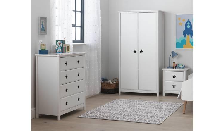 Buy Argos Home Stars 3 Piece 2 Door Wardrobe Set White Kids Bedroom Furniture Sets Argos