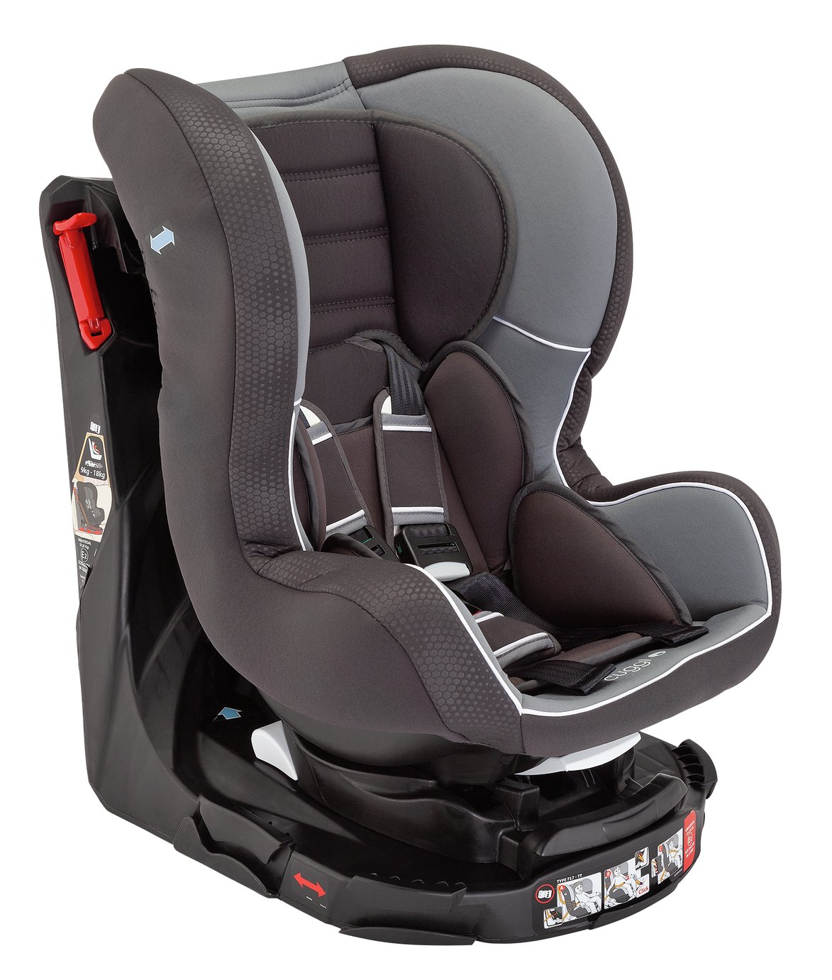 Cuggl Owl Spin Group 0/1/2 Car Seat - Grey