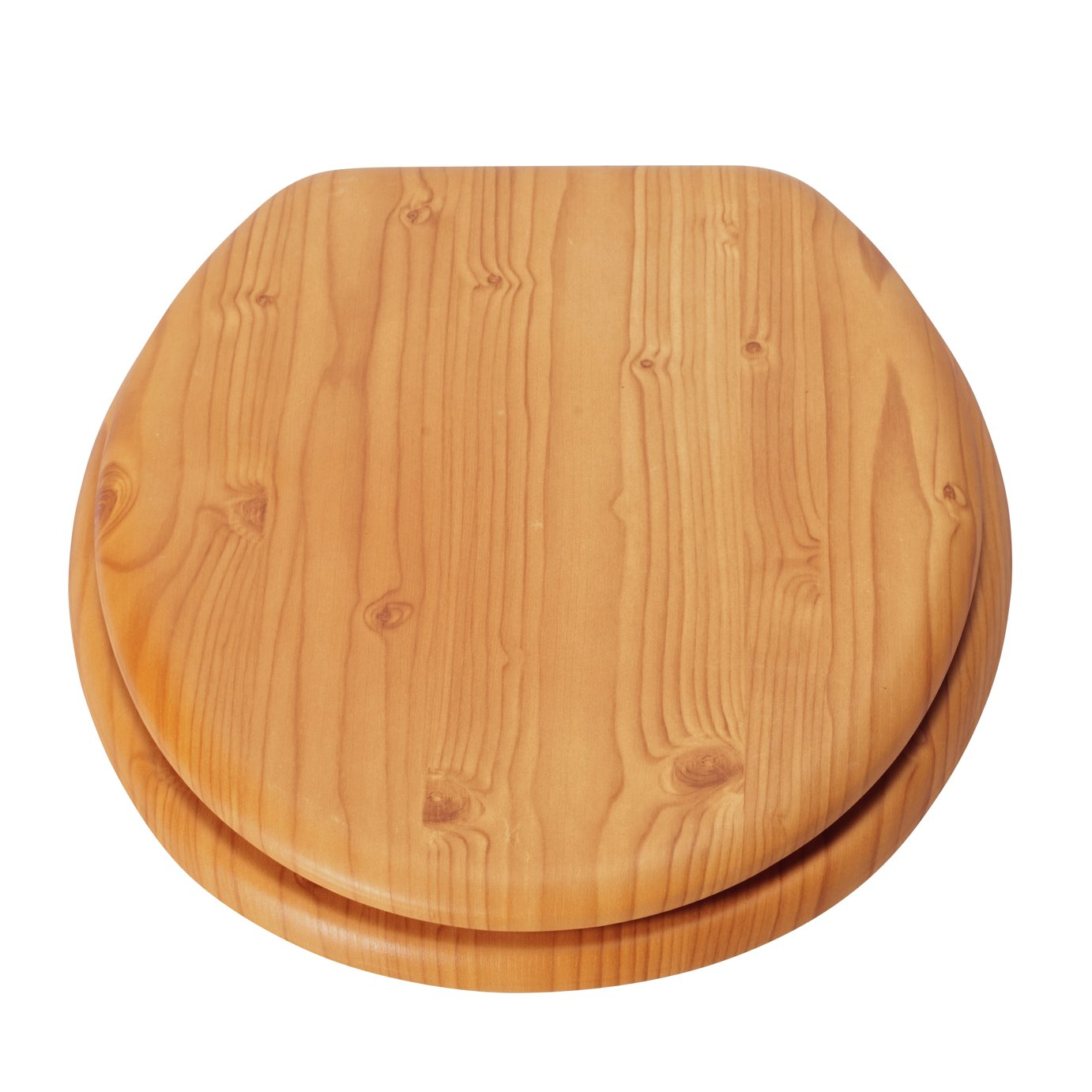 HOME Moulded Wood Toilet Seat - Antique Pine Effect