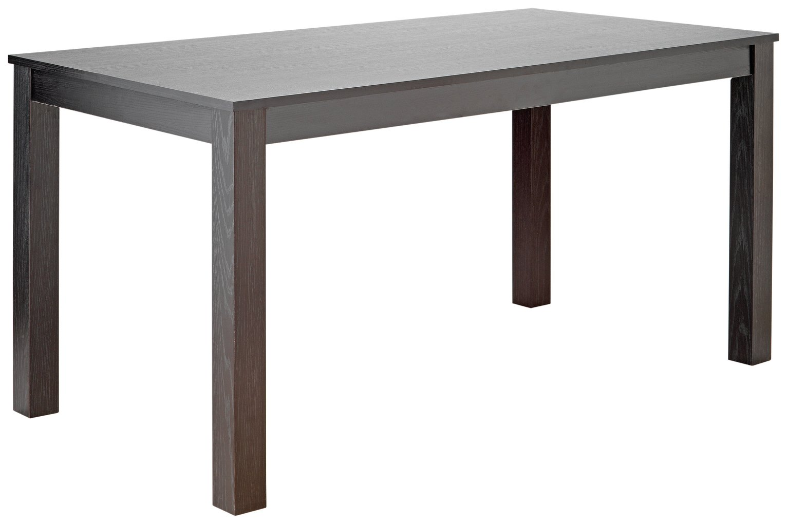 Image of HOME Wood Effect 6 Seater Dining Table - Black