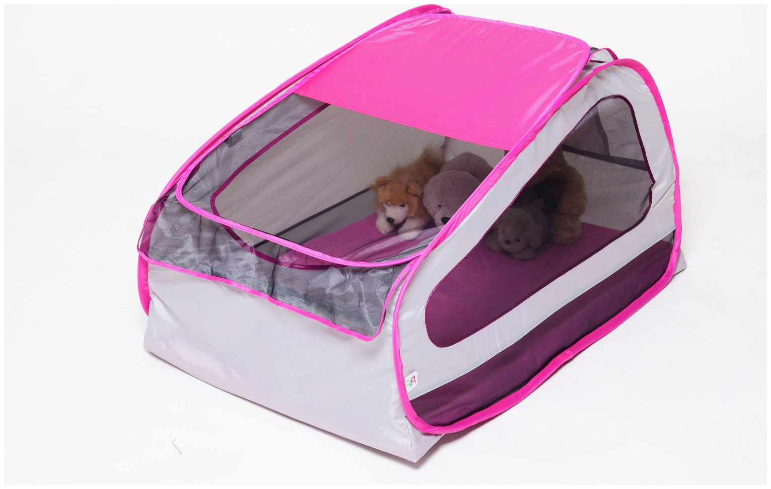 Image of BBGG Pop Up Baby Travel Cot - Pink