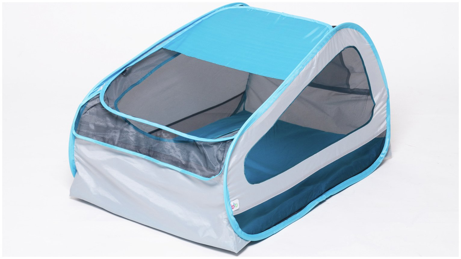 Image of BBGG Pop Up Baby Travel Cot - Blue