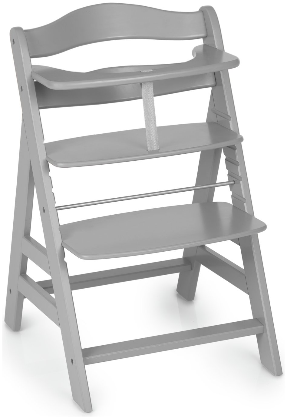 Image of Hauck Alpha+ Wooden Highchair- Grey