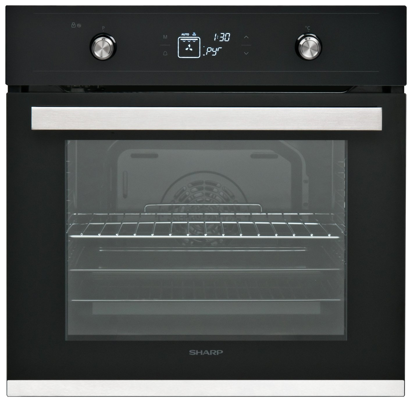 Sharp K-61V28IMI Built-In Single Electric Oven - Black