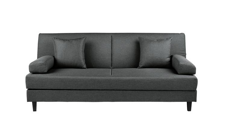 Habitat Chase Fabric Clic Clac Sofa Bed - Charcoal