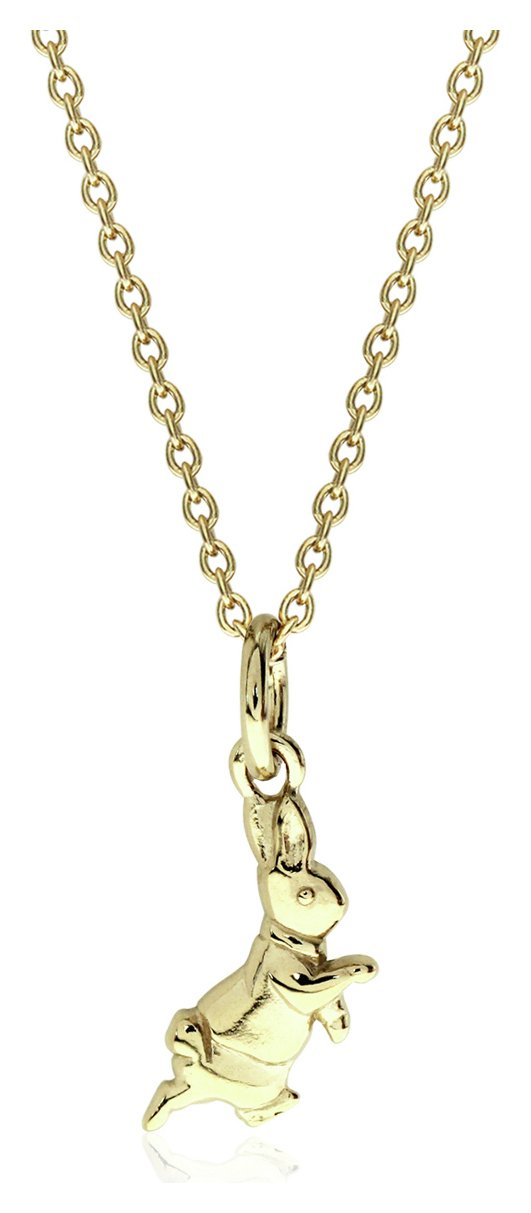 Beatrix Potter 9ct Gold Plated Peter Rabbit Pendant