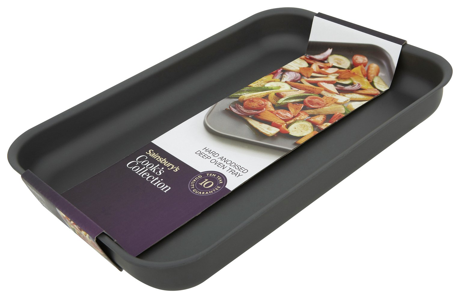 Sainsbury's Home Hard Anodised Deep Oven Tray