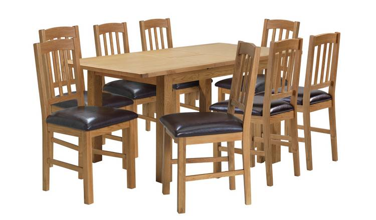 Admirable Buy Argos Home Ashwell Xl Oak Veneer Extending Table 8 Chairs Dining Table And Chair Sets Argos Inzonedesignstudio Interior Chair Design Inzonedesignstudiocom
