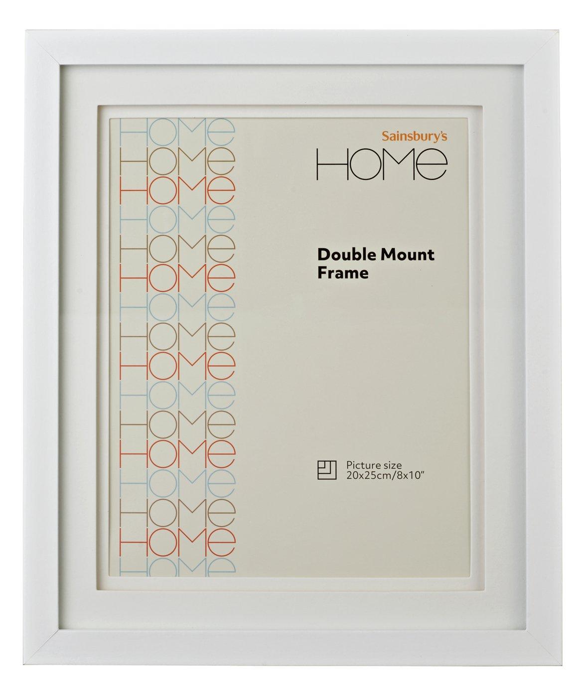 8x10 Double Mount Photo Frame - White