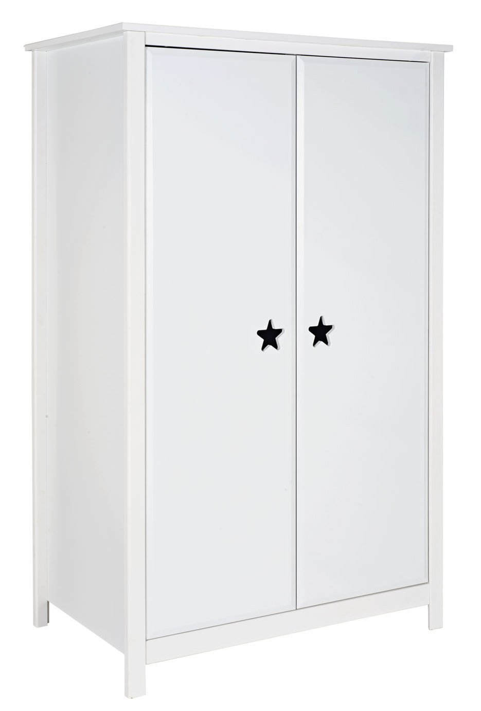 Argos Home Stars White Short 2 Door Wardrobe