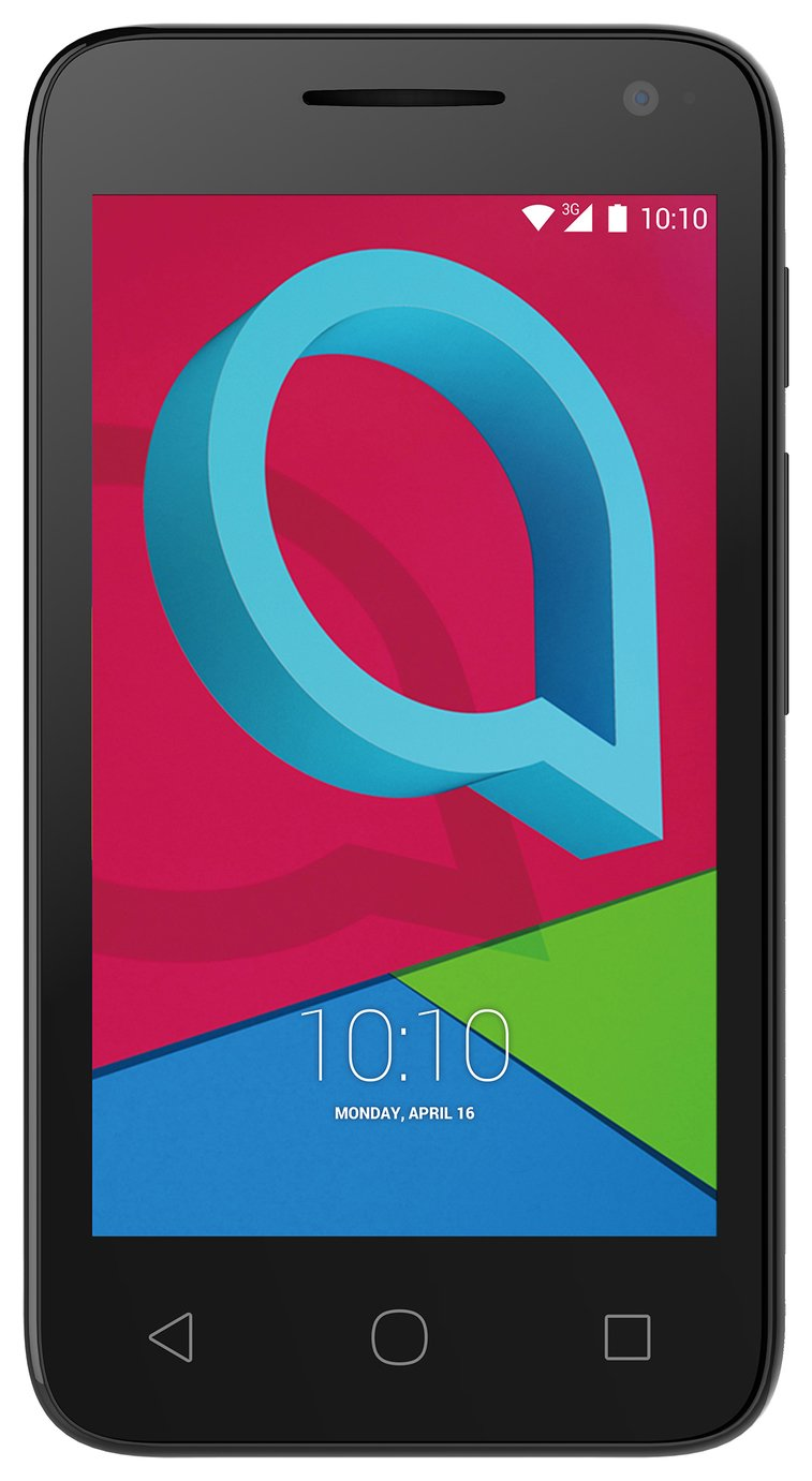 Image of Sim Free Alcatel U3 3G Mobile Phone - Black