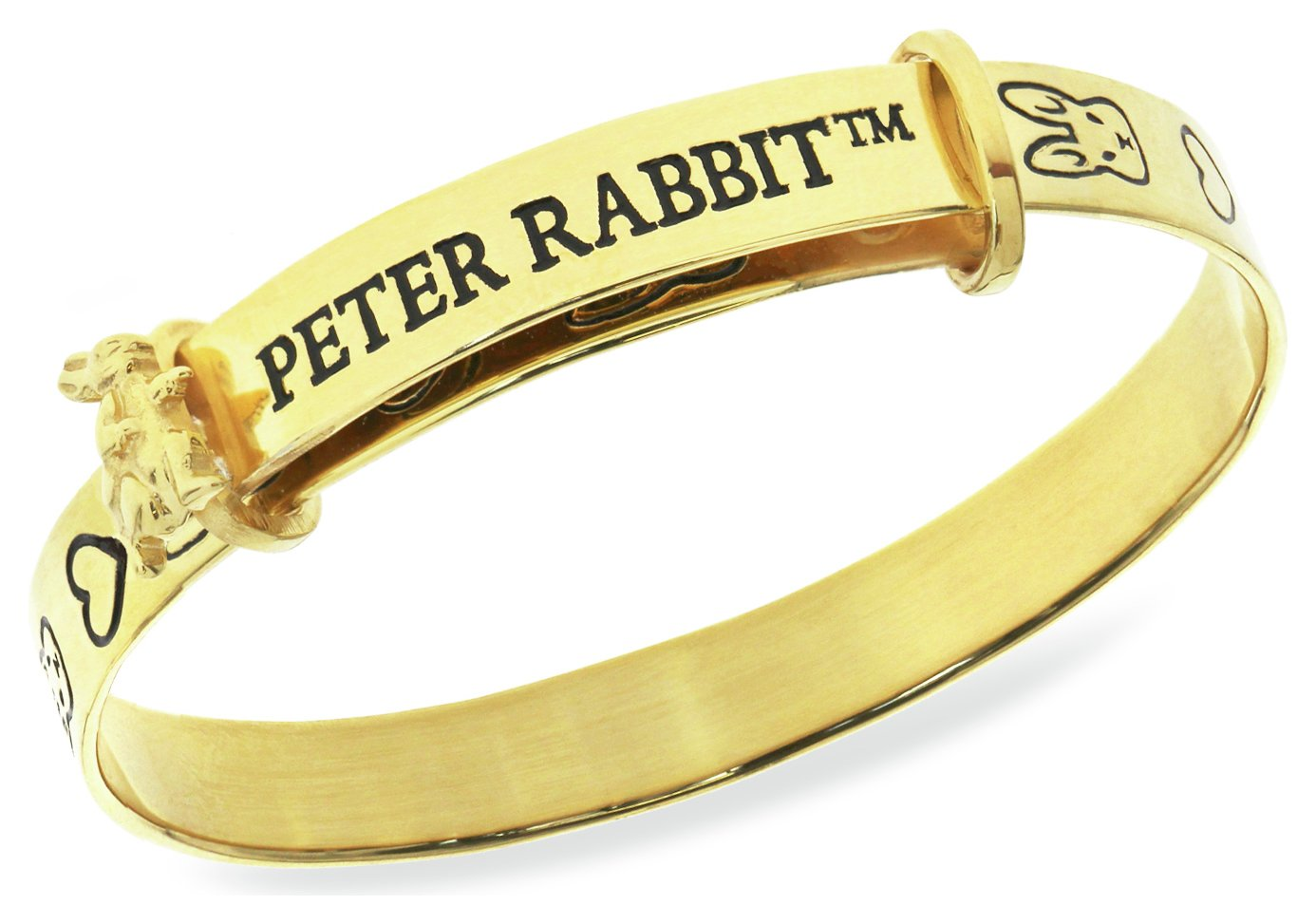 Image of Beatrix Potter Gold Plated Peter Rabbit Expander Bangle