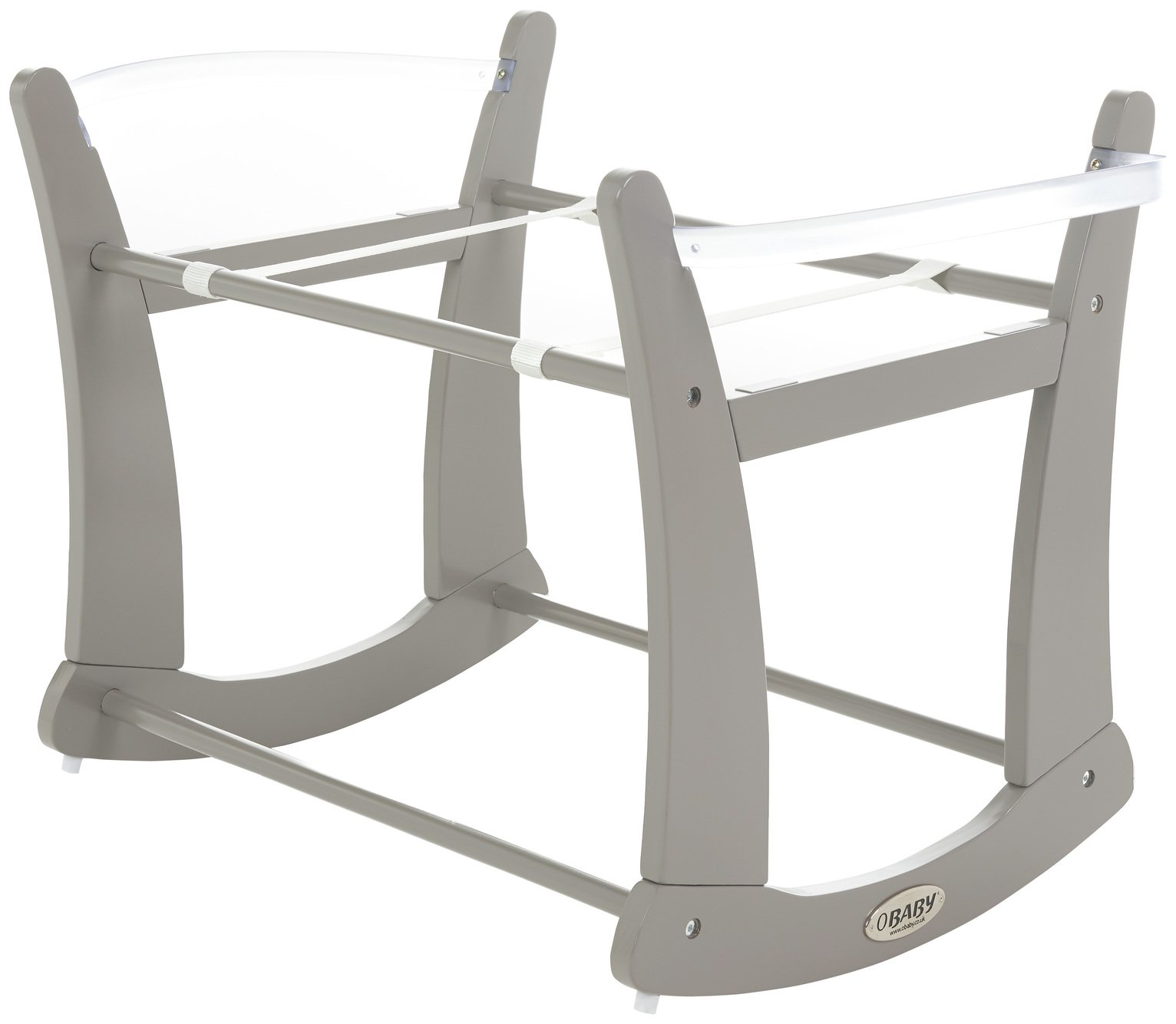 Image of OBaby Rocking Moses Stand - Taupe Grey