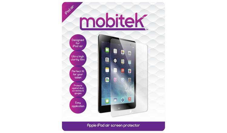 Buy Mobitek iPad Air Screen Protector | iPads, tablets and E readers | Argos