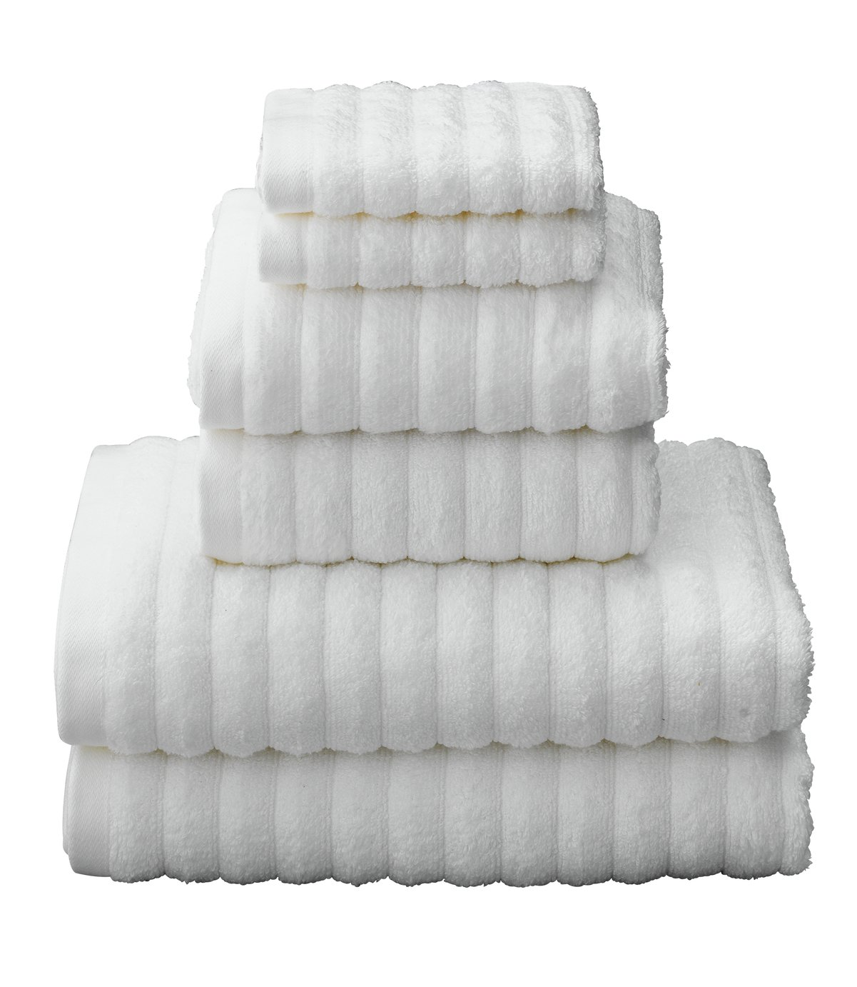 Argos Home Quick Dry 6 Piece Towel Bale - White