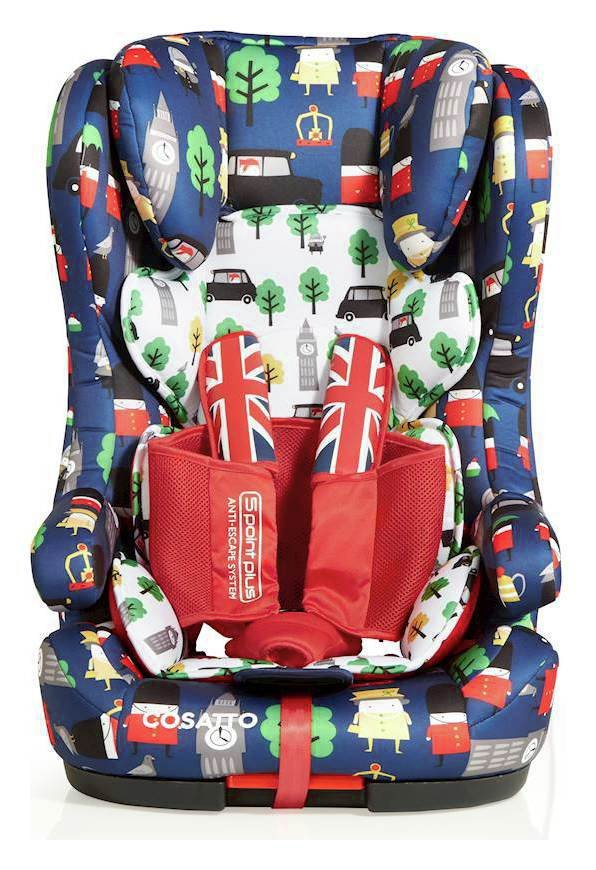 Cosatto Hubbub Groups 1-2-3 ISOFIX Car Seat - Britpop
