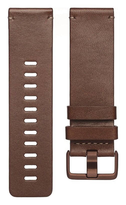 Fitbit Versa Large Small Leather Accessory Band - Cognac