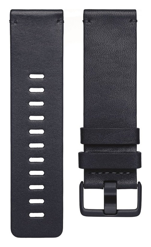 Fitbit Versa Large Leather Accessory Band - Blue