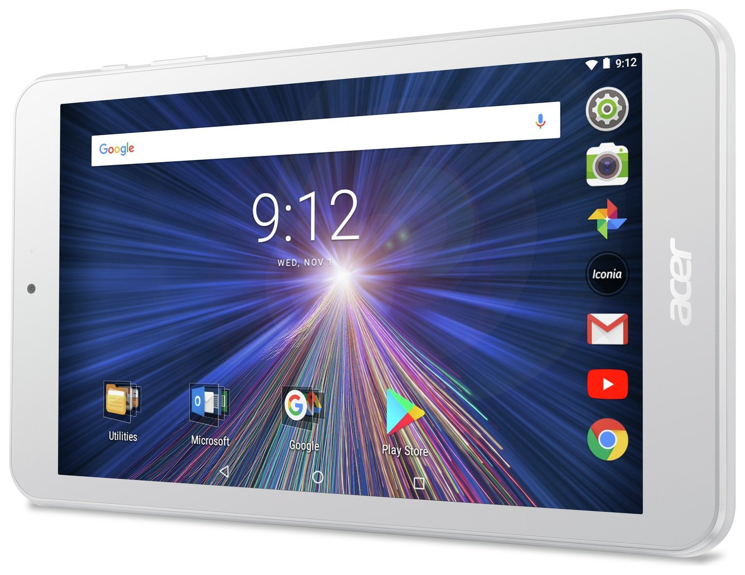 Acer Iconia One 8 8-Inch Tablet-PC - (White) (Intel Celeron Processor, 1 GB RAM, 16 GB eMMC, Graphics, Android 7.0) Best Price and Cheapest