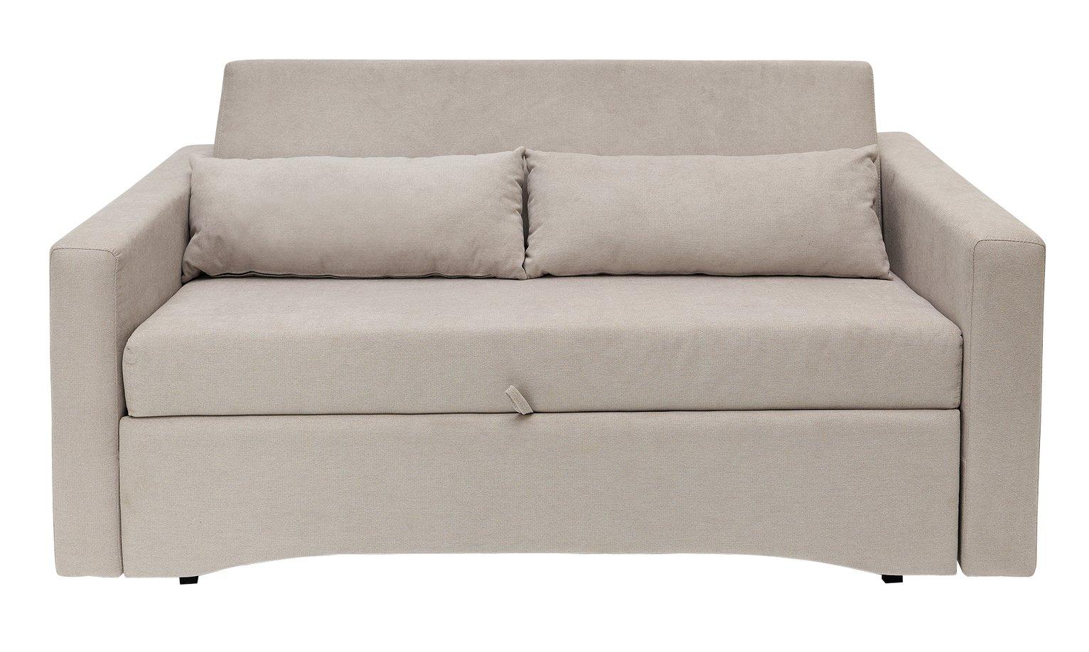 Argos Home Reagan 2 Seater Fabric Sofa Bed - Natural