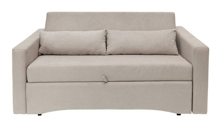 Buy Argos Home Reagan 2 Seater Fabric Sofa Bed - Natural | Sofa beds | Argos