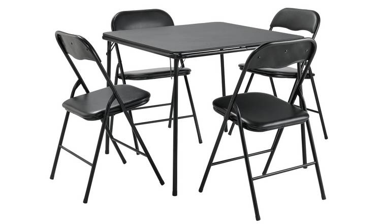 Buy Argos Home Quin Metal Folding Table 4 Folding Chairs